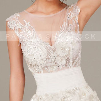 Very Sexy/wedding gown/bridal dress/bride/custom made/plus size/prom dress/13065