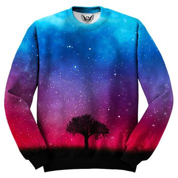 Alone In Space Nature Galaxy Sweater