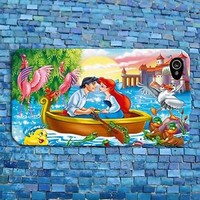 Fun Cute Artistic Disney Little Mermaid Phone Case iPhone Romantic Kiss Movie
