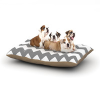 "KESS Original ""Candy Cane Gray"" Chevron Dog Bed"