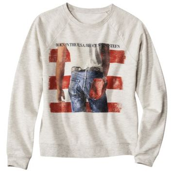 Juniors Bruce Springsteen Graphic Sweatshirt - Natural