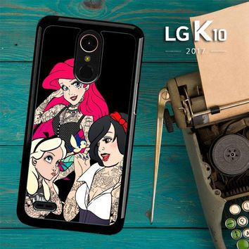 Snow Ariel And Alice Punk Tattoos Disney Princess  Z0207 LG K10 2017 / LG K20 Plus / LG Harmony Case