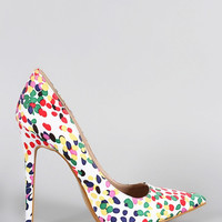 Dotted Parisian Afternoons Heels