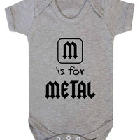 M Is For Metal Rocker Baby Onesuit