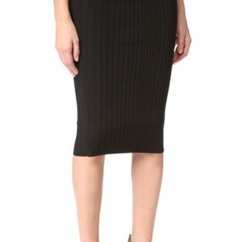 Crisscross Waistband Pencil Skirt