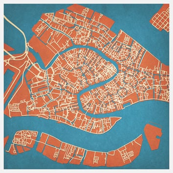 I liked this design on #Fab. Venice Map Print