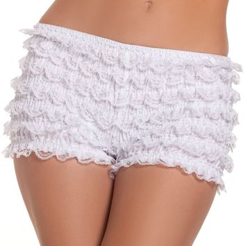 Ruffled Shorts White
