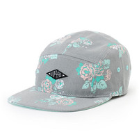 Empyre Bouquet Grey Floral 5 Panel Hat