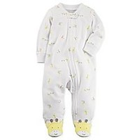 carter's® Snap-Up Giraffe Sleep & Play Footie in Ivory
