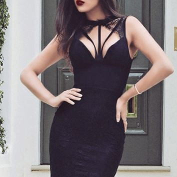 New Year Resolution Lace Bandage Dress