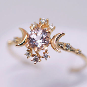 Wandering Star Ring (Morganite)