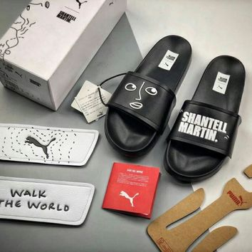 Puma Shantell Martin Popular Women Men Personality Beach Home Lovers Sandal Slipper Shoes(There Are Four Removable Leather Upper) I-CSXY