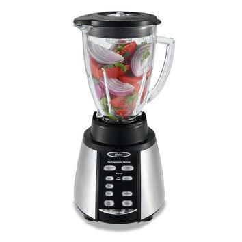 600 Watt 7-Speed Stainless Steel Blender with Glass Pitcher Jar