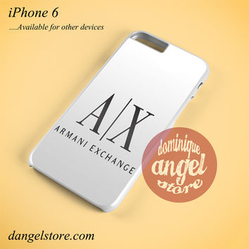 Armani Exchange White Phone case for iPhone 6 and another iPhone devices