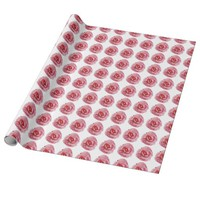 Watercolor pink rose Wrapping paper