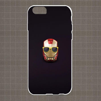 Ironman Head with Glasses iPhone 4/4S, 5/5S, 5C Series Hard Plastic Case