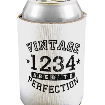 Vintage Birth Year Distressed Personalized Can / Bottle Insulator Coolers by TooLoud