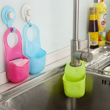 1Pc Fashion Kitchen Sink Bathroom Hanging Strainer Organizer Storage Holder Bag Tool Kitchen Accessories
