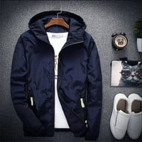 Trendy 2018 New Spring Autumn Bomber Windbreaker Jacket Men Casual Slim Hooded Thin Zipper Raincoat Outwear Jacket Plus Size 6XL 7XL AT_94_13