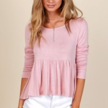 My Baby Doll Top Mauve