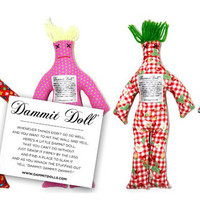 Classic Dammit Doll, 12″ high, cotton exterior, variety of patterns available | Toad Hollow