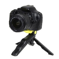 Portable yellow 2 in1 Camera Phone Mini Hand Grip Folding Tripod Stand Holder For GoPro