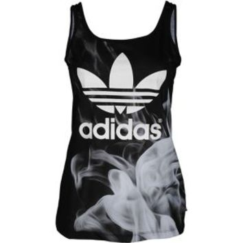 adidas Originals Rita Ora White Smoke Layer Tank - Women's