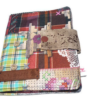 Notebook Cover, Planner, Organizer, Note Pad Organizer, Notebook Planner, To do List, Coupon Holder, fabric stationery, Portfolio