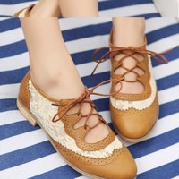 Lace Cutout Oxford from Seek Vintage