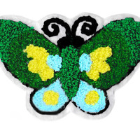 Large Chenille Butterfly Patch 11cm