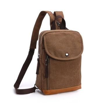 070717 men small backpack double shoulder travel bag