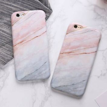 Fashion Marble Case For iPhone 7 6 6s Plus  Rock Stone