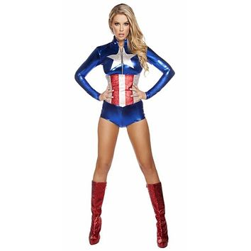 Sexy American Fighter Super Hero Halloween Costume