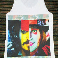 Johnny Depp Shirt -- Johnny Depp Funny T-Shirt Actor Film Movie T-Shirt Johnny Depp T-Shirt Women Tank Top Vest Tunic Sleeveless Size M