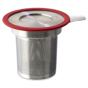 Large Stainless Steel Loose Tea Infuser (Strainer) with Lid