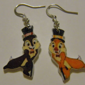 Disney Chip N Dale Earrings chipmunks jewelry ADORABLE