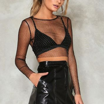 Diamond Dogs Mesh Crop Top