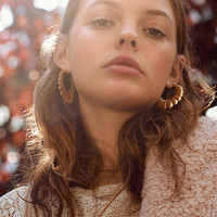 Scalloped Statement Hoop Earring | Urban Outfitters