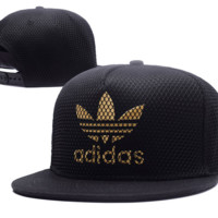 Trendy Adidas Embroidered Mesh Adjustable Outdoor Baseball Cap Hats