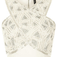 Cross Front Embellished Bralet