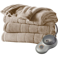 Walmart: Sunbeam Heated Plush Electric Blanket