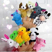 Farm Zoo Animal Finger Puppets Toy 10PCS
