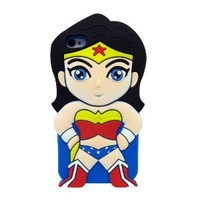 L&L Superwoman Wonder Woman Soft Silicone Case Skin Cover for Apple iPhone 5 5s 5G 5th Generation Superwoman