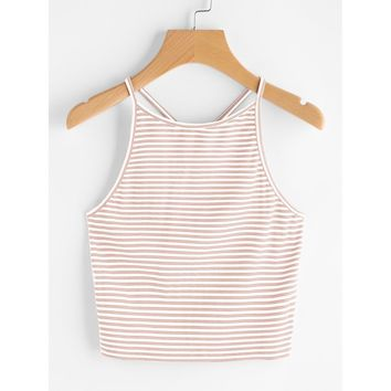 Striped Cami Top PINK