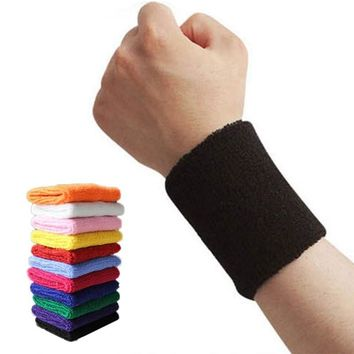 Sports Wristband Sweat Yoga Fitness Bracer Tennis Strap Sports Safety Wrist Support 1 PCS