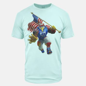 USA Eagle Ice Blue Tri-Blend T-Shirt
