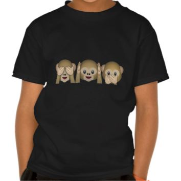 Three Wise Monkeys Emoji T-shirts