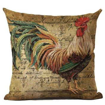 Rooster Cushion Cover