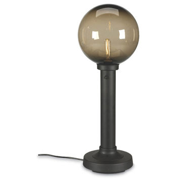 "Moonlite 35"" Outdoor Table Lamp with Bronze Tube Body & Bronze Globe"
