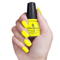 China Glaze Nail Polish, Yellow Polka Dot Bikini, 0.5 Fluid Ounce